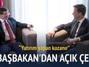 Davutoğlu: En kazançlı ve karlı yer Türkiye'dir
