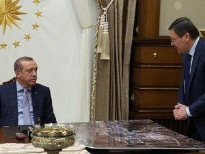 Erdoğan, Külliye'de Melih Gökçek'i kabul etti
