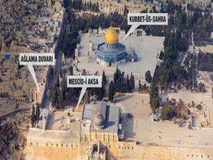 Terör devlet İsrail'e Mescid-i Aksa tokadı!
