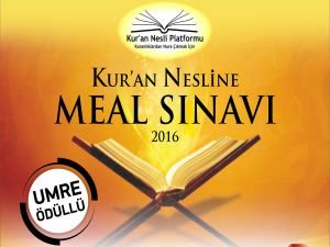 """Umre ödüllü """"Kur'an Nesline Meal Sınavı"""""""