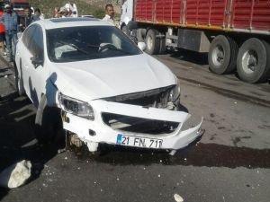 Yol çalışmasını fark etmedi kaza yaptı