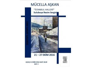 """Mücella Aşkan'dan  """"İstanbul HALLERİ""""  sergisi"""