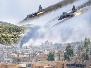 Bombardımana karşı sığınak yapıyorlar