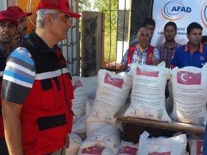İMKANDER'den Suriyeli ailelere yardım