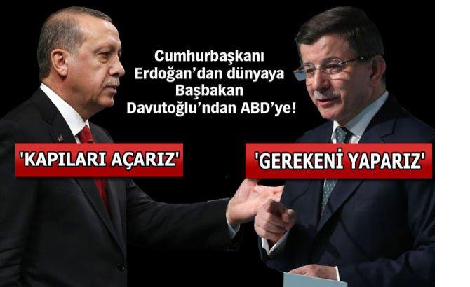Davutoğlu, PKK ve YPG arasındaki trafik bizi rahatsız ediyor