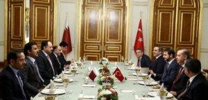 Erdoğan, Katar  Emiri ile bir raya geldi