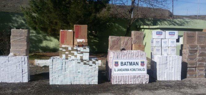 Batman'da 69 bin paket kaçak sigara ele geçirildi