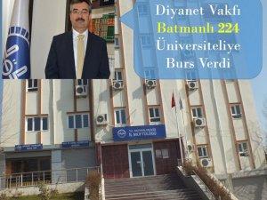 TDV 'den Batmanlı 224 Üniversite öğrencisine eğitim bursu