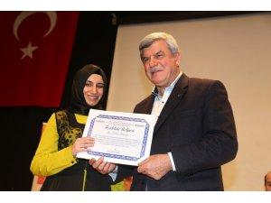 Görme engellilere Kur'an sertifikası verildi