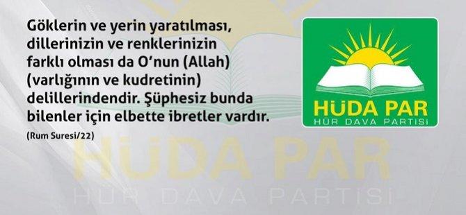 """HÜDA PAR'dan """"Uluslararası Anadil Günü"""" açıklaması"""