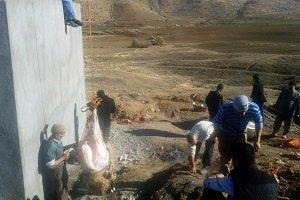 Çözülen su sorunu  köylüler kurban keserek kutladılar!