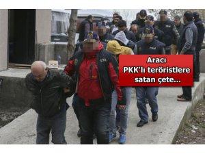 Aracı PKK'lilere satan çete!