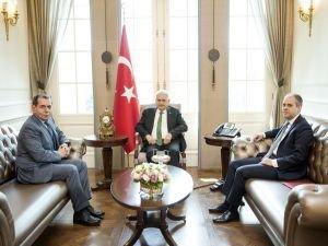 Başbakan Yıldırım, Özbek'i kabul etti