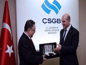 Bakan Soylu, Moğalistan Güvenlik Bakanı'nı kabul etti