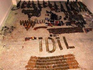 Şırnak'ın İdil ilçesinde silah deposu