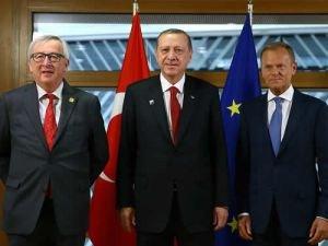 Cumhurbaşkanı Erdoğan, Tusk ve Juncker ile görüştü
