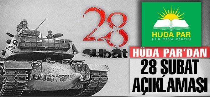 HÜDA PAR: 28 Şubat zulmü devam ediyor