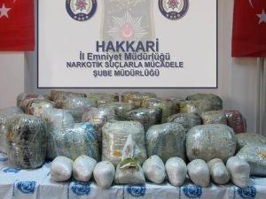 Hakkari'de 268 kilo uyuşturucu yakalandı