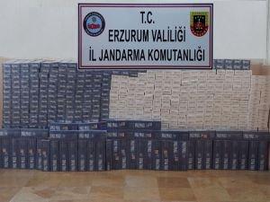 Erzurum'da 11 bin paket kaçak sigara yakalandı