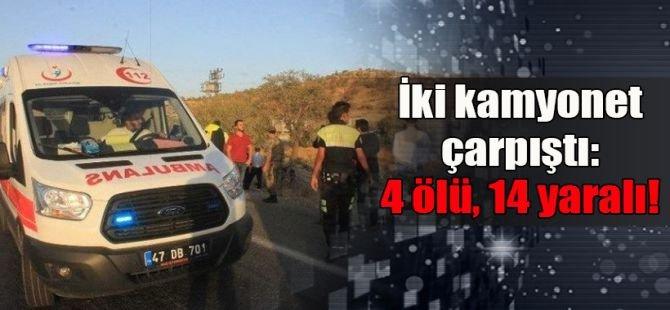 Mardin'de katliam gibi kaza: 4 ölü 14 yaralı
