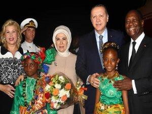 Erdoğan, Afrika seyahatinin ilk durağında