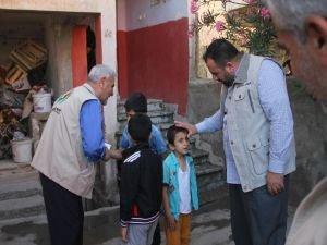 Mardin'de yetim ailelere yardım