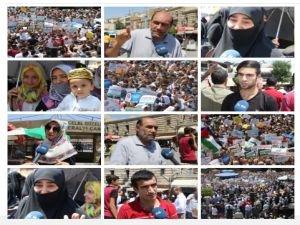 Diyarbakırlılar: Siyonistler İslam ülkelerinin parçalanmışlığından cesaret alıyor!