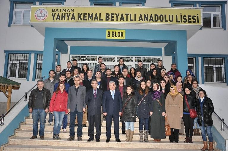 Aslan Yahya Kemal Beyatlı Anadolu Lisesi'ni ziyaret etti