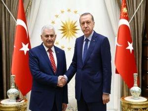 Cumhurbaşkanı ile Başbakan Yıldırım'ın görüşmesi sona erdi