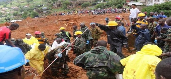 Sierra Leone'de ölü sayısı 400'e yükselirken 600 kişi kayıp