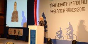 Sare Davutoğlu, Türkiye Aktif ve Sağlıklı Yaşlanma zirvesine katıldı