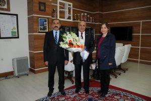 AFAD Müdürü Rektör Uluçam'ı ziyaret etti