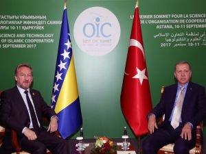 Cumhurbaşkanı Erdoğan, İzetbegoviç'i kabul etti