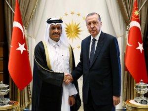 Cumhurbaşkanı Erdoğan Katar Emiri El-Sani ile görüştü