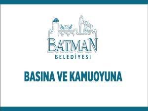 """Batman Belediyesi'nden """"sahte hesap"""" açıklaması"""