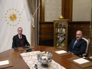 Cumhurbaşkanı Erdoğan, MGK Genel Sekreterini kabul etti