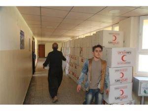 Batman Belediyesi ve Kızılay'dan Iraklı depremzedelere yardım eli