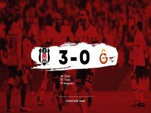 Beşiktaş, G.Saray'ı 3'ledi: 3-0