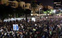 Terör rejiminde Netanyahu'ya karşı 'Utanç Yürüyüşü'