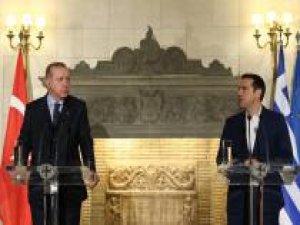 Cumhurbaşkanı Erdoğan ile Çipras'tan ortak basın açıklaması
