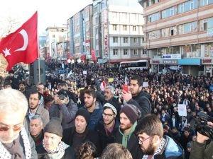 """Van'da halk """"Kudüs"""" için yürüdü"""