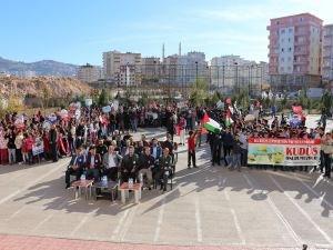 """Öğrenciler """"Kudüs bizimdir, bizim kalacak"""" dedi"""