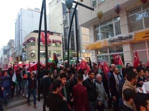 """İskenderun'da """"Kudüs İslam'ındır"""" yürüyüşü"""
