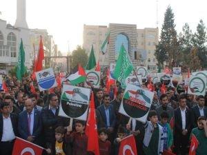 Cizre'de 'Kudüs'e özgürlük insanlığa barış' mitingi