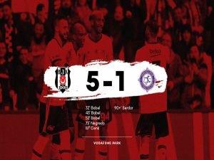 Beşiktaş Osmanlıspor'u 5'ledi: 5-1