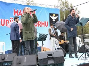 Mardin'deki 'Kudüs Nöbetine' konser desteği