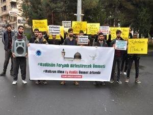 """Üniversite öğrencilerinden """"Kudüs"""" protestosu"""
