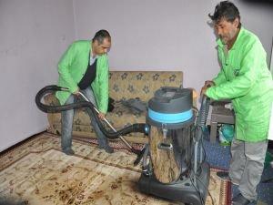 Engelli ve ihtiyaç sahibi ailelere evde temizlik hizmeti
