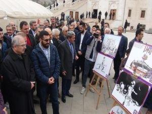 Mardin'de Kudüs ve Mescid-i Aksa karikatür sergisi