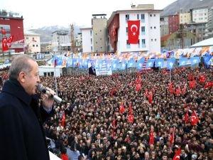 Cumhurbaşkanı Erdoğan, Hakkari'de halka hitap etti